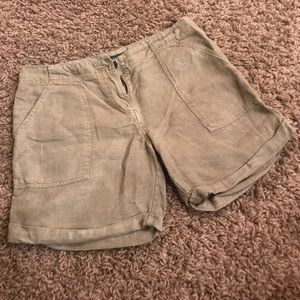 Sanctuary linen shorts - olive green