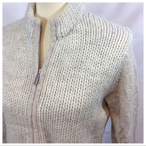 Chunky Wool-Blend Knit Sweater