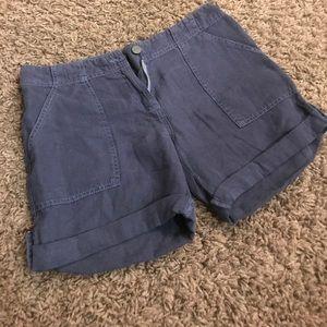 Sanctuary linen shorts - navy blue