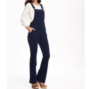 Old Navy Corduroy Flare Overalls in Navy XL