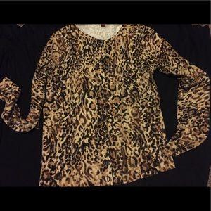 Leopard merona cardigan