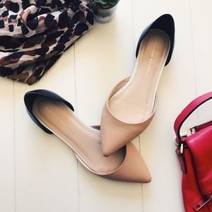 Loeffler Randall - Nude and Black Pointed Flats