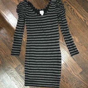 REISS London striped bodycon dress