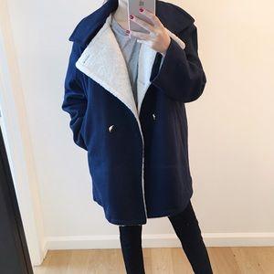 Rachel Comey navy woolen coat