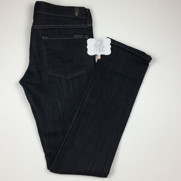 7 For All Mankind Denim - 7 for all mankind Roxanne Skinny Straight Jean 33L