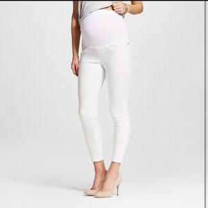 BNWT Liz Lange white maternity ankle jeans XL 16