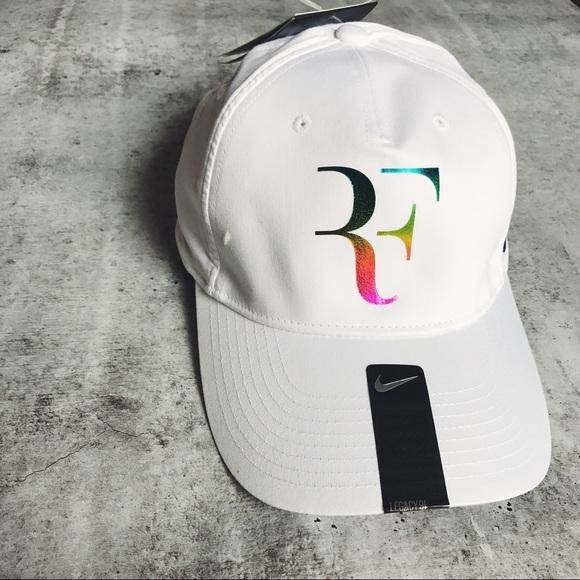 25c4372beac Roger Federer Iridescent White Premier Hat. NWT. Nike