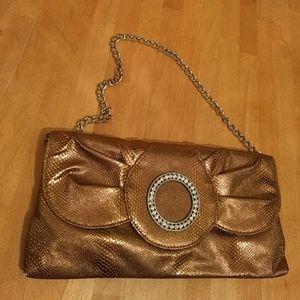 Handbags - Bronze clutch purse