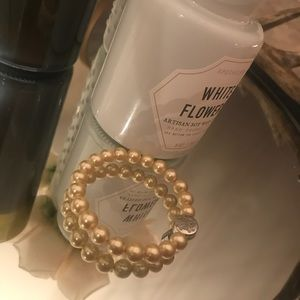 Pearl Rustic Cuff Stephanie Bracelet