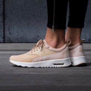 Nike Air Max Thea Premium Leather + Suede Sneakers