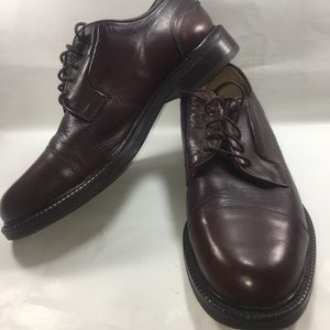 J.Crew Ludlow Cap-Toe Bluchers Brown Leather 11.5