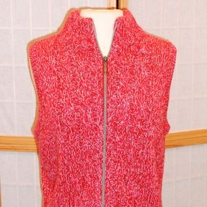 Westbound Petites Sleeveless Red Sweater Vest Sz M
