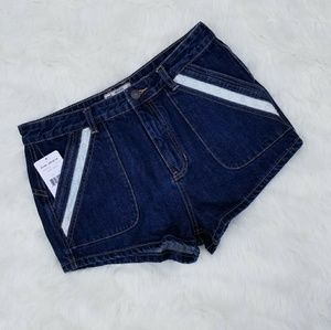 Free People Jean Mini Daisy Dukes Shorts
