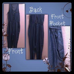 💙Denim Sleeveless Pant Jump Suit One Piece💙