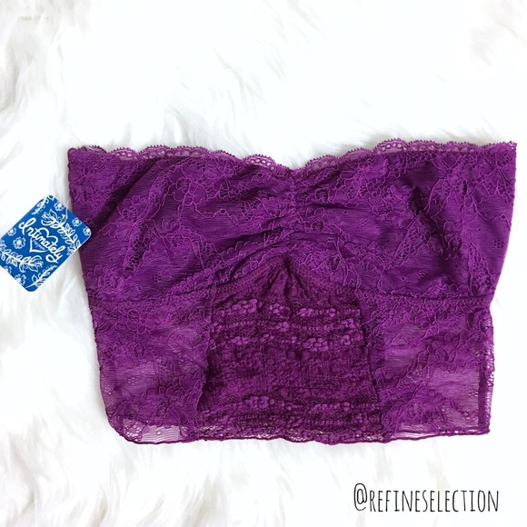 4516529f6779d Free People Galloon Lace Crop Orchid Bandeau