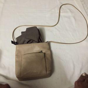 Handbags - Beige leather crossbody bag