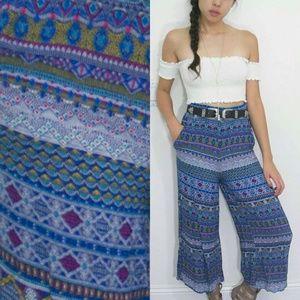 SALE Lily White Hippy Boho Pattern Pants