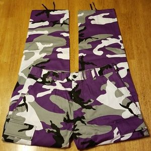 Other - PURPLE CAMMO TACTICAL FATIGUE CARGO PANTS UNISEX