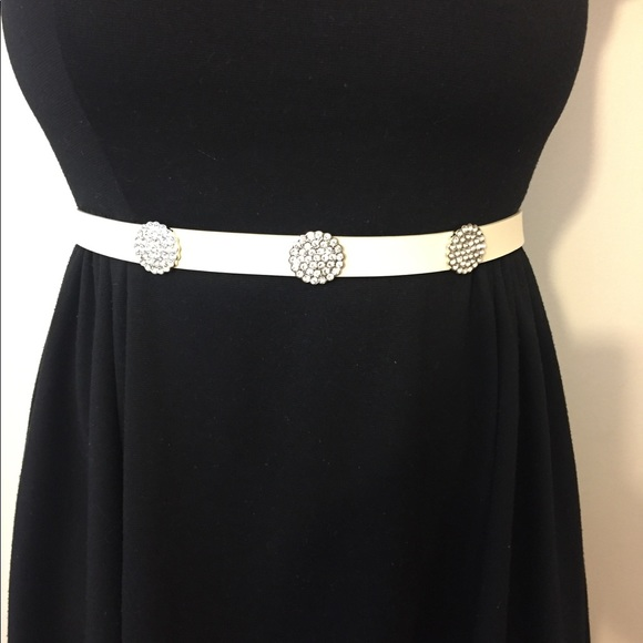 kate spade Accessories - New Kate Spade Leather & Rhinestone Belt Size M