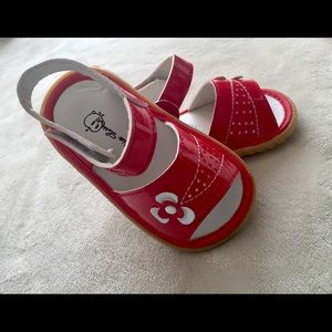 Squeakers-Patent Red Toddler Shoe Sandal NWT