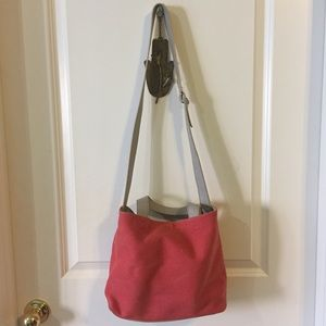 BDG Pink Canvas Tote with Tan Pouch