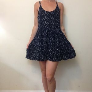 Tea & cup Navy Floral Anthro Swing Mini Dress