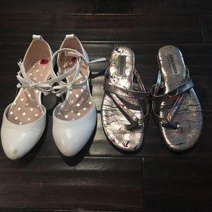 🆕Bundle! 2 pairs size 2 shoes