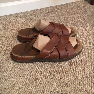 Dansko brown leather Slip On Men's Sandals 9.5-10