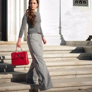 High Rise Trousers in Gray