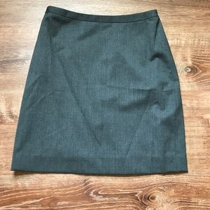 Brooks Brothers A Line Gray Pencil Skirt