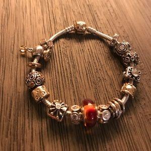 💯% AUTHENTIC 14k/ and 925 Pandora bracelet NEW