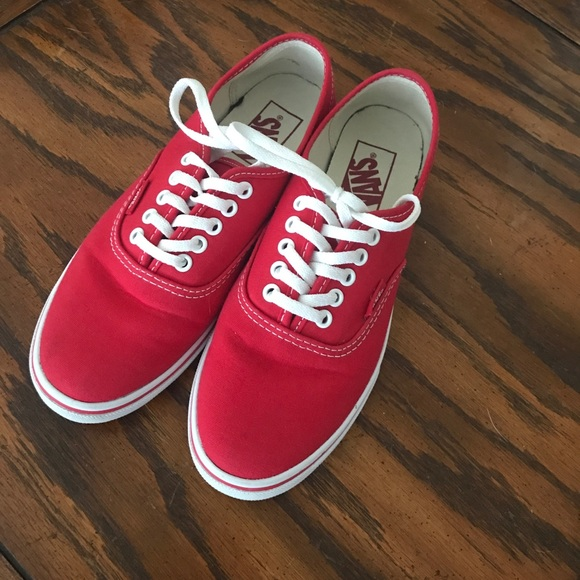 1df8f50b7f1e93 Vans Shoes - Women s Cherry Red Vans Authentic Lo-Pro s