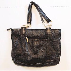 HOBO Black Leather Tote Bag