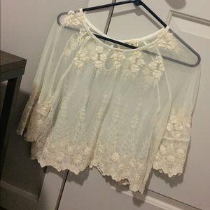 LA Hearts mesh short blouse
