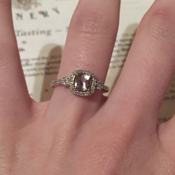 8b1070f56 Rose Gold Morganite Ring with Diamond Accents. M_59aecbe78f0fc479a60357c4.  Other Jewelry you may like. Zales Ring