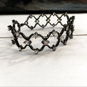 Sterling Silver Black Oxidized CZ Bracelet