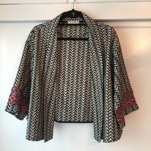 Zara W&B Collection jacket wide kimono sleeve