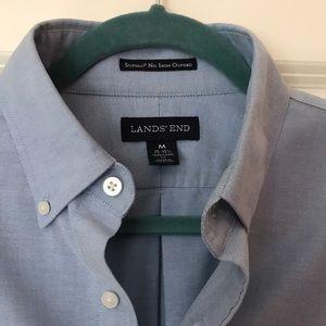 Blue Lands End Men's Dress Shirt