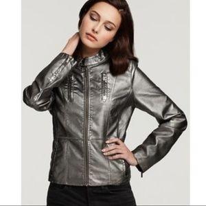 Calvin Klein LS Full Zip Metallic Moto Jacket