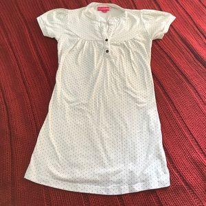 White & Black polka dot maternity shirt XS