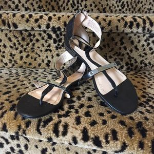 Prabal Gurung for Target Black Flat Sandals Size 8