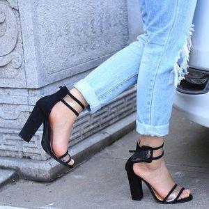 Black Clear strap heel , Coming soon !