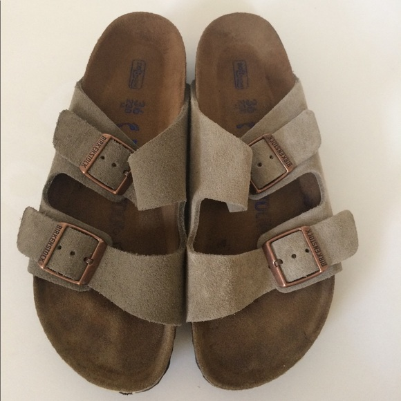 851014ce7e0 Birkenstock Shoes - Birkenstock Arizona Taupe Suede Sandals 36 narrow