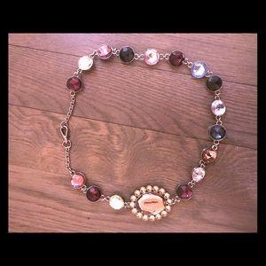 Lanvin multicolor encrusted jewel necklace