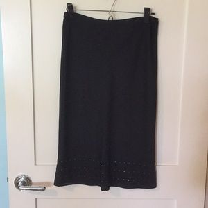 Black Mng skirt with metal detail (S)