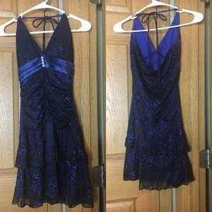 (MAKE OFFER) Short Blue Dress Small (taboo)