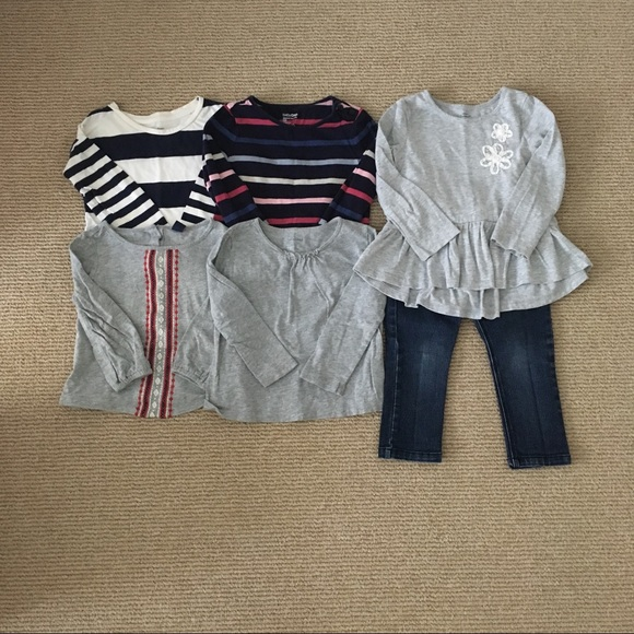 3704b0311 GAP Other | 2t Lot Baby Old Navy 5 Tops 1 Jeans | Poshmark