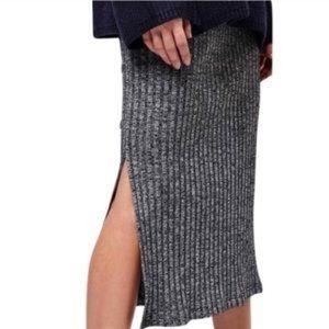Topshop rib midi skirt