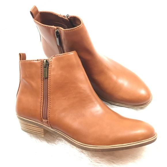 ef94de5b01538 Chaps Shoes | Sabra Zipper Ankle Boots Tan Calfskin 8 | Poshmark