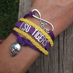 Jewelry - LSU college football wrap bracelet